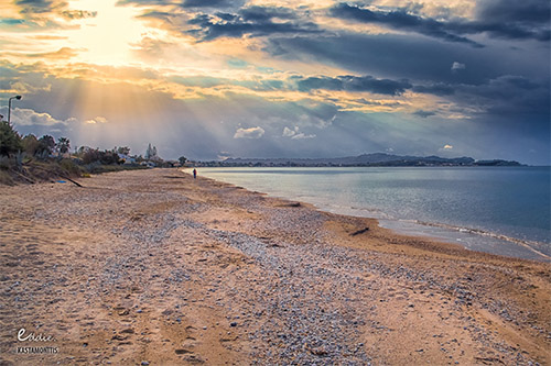 Acharavi strand op Corfu