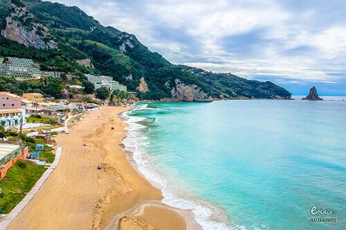 Agios Gordios strand op Corfu