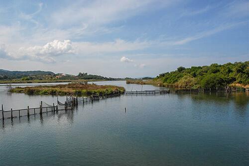 Antinioti lagune op Corfu