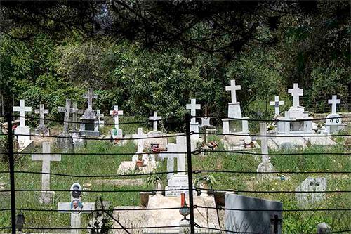 begraafplaats op Corfu