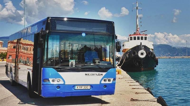 blauwe bus - Corfu