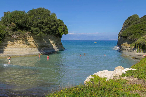 Canal d'amour op Corfu