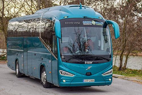De groene bus Corfu