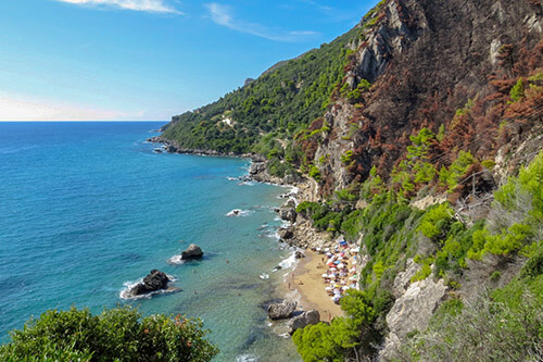 Myrtiotissa op Corfu