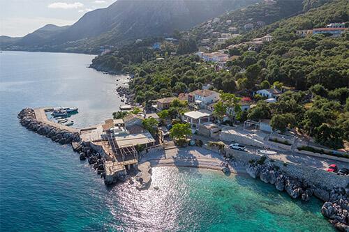 Nissaki op Corfu