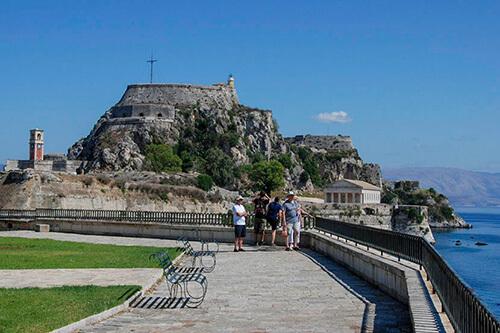 Het oude fort op Corfu