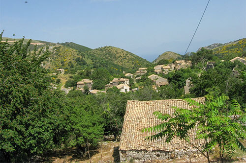 Paleo Perithia op Corfu