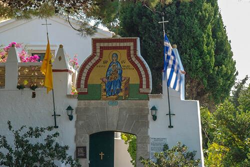 Paleokastritsa klooster op Corfu