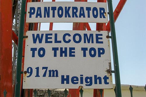 Pantokrator op Corfu