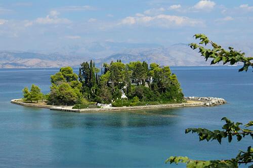 Pontikonisi eiland - Corfu
