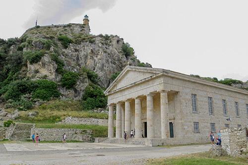 Saint George kerk op Corfu
