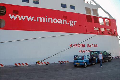 Veerboot naar Corfu